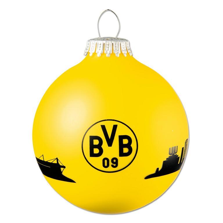Bvb Weihnachtsbaum.Dortmund Bvb Weihnachtskugel Mit Skyline Helpi Shop Der